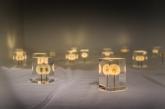 Soffioni-lampade che si illuminano ad intermittenza, design MADE IN JAPAN